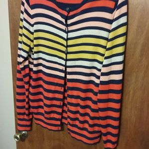 Land's End multi color stripped sweater